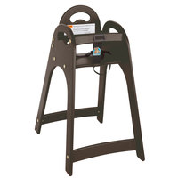 Koala Kare KB105-09KD Brown Designer High Chair - Unassembled