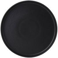 Tuxton VBAS106 TuxTrendz Zion Matte Black 10 3/4 inch Straight-Sided China Plate - 12/Case