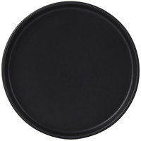 Tuxton VBAS064 TuxTrendz Zion Matte Black 6 1/2 inch Straight-Sided China Plate   - 24/Case