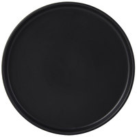 Tuxton VBAS082 TuxTrendz Zion Matte Black 8 1/4 inch Straight-Sided China Plate - 24/Case
