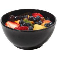 GET B-44-BK Settlement 10 oz. Black Melamine Side Salad / Soup Bowl - 24/Case
