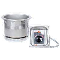 APW Wyott SM-50-7D UL 7 Qt. Round Drop In Soup Well with Drain - 208/240V
