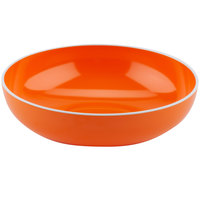 GET B-46-TG Settlement Oasis 1.7 Qt. Tangerine Orange Melamine Large Serving Bowl with White Trim