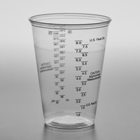 Solo UltraClear TP10DGM 10 oz. Clear PET Plastic Graduated Medical Cup - 1000/Case