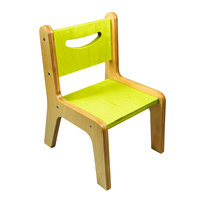 Whitney Brothers CR2512G Whitney Plus 12 inch Wood Children's Chair with Electric Lime Seat and Back