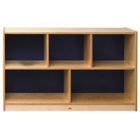 Whitney Brothers CH1330S Whitney Plus Heavy-Duty Wood Children's Cabinet with Scandinavian Blue Back Panels - 48 inch x 14 inch x 30 inch