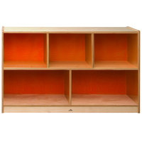 Whitney Brothers CH1330O Whitney Plus Heavy-Duty Wood Children's Cabinet with Hot Pumpkin Back Panels - 48 inch x 14 inch x 30 inch