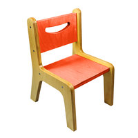 Whitney Brothers CR2512O Whitney Plus 12 inch Wood Children's Chair with Hot Pumpkin Seat and Back