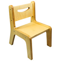 Whitney Brothers CR2514N Whitney Plus 14 inch Wood Children's Chair with Natural Seat and Back