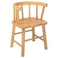 Whitney Brothers WB0178A 19 1/4 inch Bentwood Back Maple Wood Children's Chair