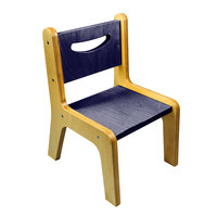 Whitney Brothers CR2514S Whitney Plus 14 inch Wood Children's Chair with Whitney Blue Seat and Back
