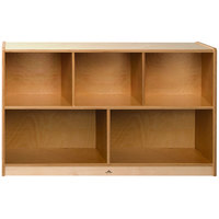 Whitney Brothers CH1330N Whitney Plus Heavy-Duty Wood Children's Cabinet with Natural Back Panels - 48 inch x 14 inch x 30 inch
