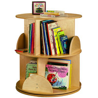 Whitney Brothers WB0502R 2-Level Children's Wood Book Carousel