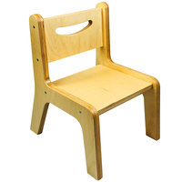 Whitney Brothers CR2512N Whitney Plus 12 inch Wood Children's Chair with Natural Seat and Back