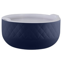 Bon Chef Diamond Collection Cold Wave 3.4 Qt. Cobalt Blue Triple Wall Bowl with Cover