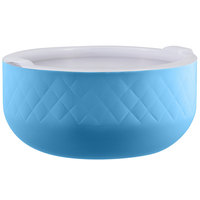 Bon Chef Diamond Collection Cold Wave 10.10 Qt. Caribbean Blue Triple Wall Bowl with Cover