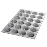 Chicago Metallic 45525 24 Cup Glazed Cupcake / Muffin Pan - 14 1/16 inch x 20 11/16 inch