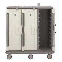 Cambro MDC1418T30180 Light Gray 3 Compartment Meal Delivery Cart 30 Tray