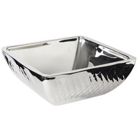 Bon Chef 9333DI Diamond Collection Cold Wave 4 Qt. Stainless Steel Square Triple Wall Bowl