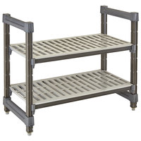 Cambro ESU184830V2580 Camshelving® Elements 18 inch x 48 inch x 30 inch Vented 2-Shelf Stationary Undercounter Shelving Unit