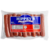 Hippey's 3 lb. 18 Count Case 6/1 Size Beef Franks - 4/Case