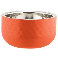 Bon Chef Diamond Collection Cold Wave 1 Qt. Orange Triple Wall Bowl