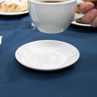 Tuxton ALE-050 Alaska 5 inch Bright White China Demitasse Saucer - 36/Case