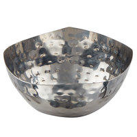 American Metalcraft SBH400 5.5 oz. Round Hammered Stainless Steel Snack Bowl / Sauce Cup