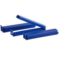 Linden Sweden 411.8 Twixit! Blue 4 1/4 inch Pastry Bag Clips - 3/Pack