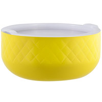 Bon Chef Diamond Collection Cold Wave 10.10 Qt. Yellow Triple Wall Bowl with Cover