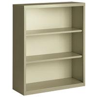 Hirsh 21989 Putty 3-Shelf Welded Steel Bookcase - 34 1/2 inch x 13 inch x 42 inch