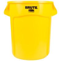 Rubbermaid FG262000YEL BRUTE 20 Gallon Yellow Trash Can