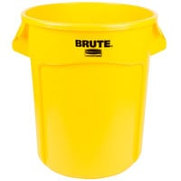 Rubbermaid FG262000YEL BRUTE 20 Gallon Yellow Trash Can