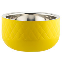 Bon Chef Diamond Collection Cold Wave 1 Qt. Yellow Triple Wall Bowl