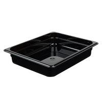 Cambro 22HP110 H-Pan™ 1/2 Size Black High Heat Plastic Food Pan - 2 1/2 inch Deep