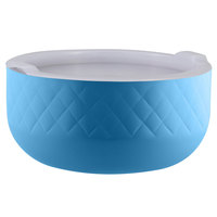 Bon Chef Diamond Collection Cold Wave 3.4 Qt. Caribbean Blue Triple Wall Bowl with Cover