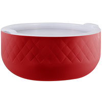 Bon Chef Diamond Collection Cold Wave 10.10 Qt. Red Triple Wall Bowl with Cover