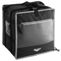 Vollrath VDBBM300 3-Series 16 inch x 16 inch x 13 inch Black Insulated Nylon Food Delivery Backpack with Integrated Frame