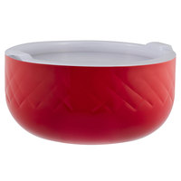 Bon Chef Diamond Collection Cold Wave 3.4 Qt. Red Triple Wall Bowl with Cover