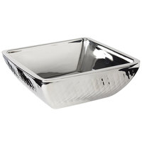 Bon Chef 9332DI Diamond Collection Cold Wave 3 Qt. Stainless Steel Square Triple Wall Bowl