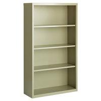 Hirsh 21992 Putty 4-Shelf Welded Steel Bookcase - 34 1/2 inch x 13 inch x 60 inch