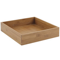 Bon Chef 9326 11 1/4 inch x 11 1/4 inch x 2 5/8 inch Square Bamboo Underliner for Cold Wave Platter