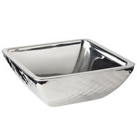 Bon Chef 9334DI Diamond Collection Cold Wave 2 Qt. Stainless Steel Square Triple Wall Bowl