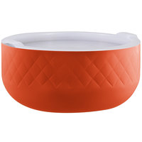 Bon Chef Diamond Collection Cold Wave 10.10 Qt. Orange Triple Wall Bowl with Cover