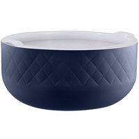 Bon Chef Diamond Collection Cold Wave 10.10 Qt. Cobalt Blue Triple Wall Bowl with Cover