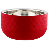 Bon Chef Diamond Collection Cold Wave 1 Qt. Red Triple Wall Bowl