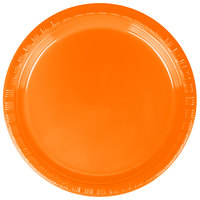 Creative Converting 28191011 7 inch Sunkissed Orange Plastic Lunch Plate - 240 / Case