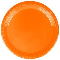Creative Converting 28191011 7 inch Sunkissed Orange Plastic Plate - 240 / Case