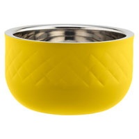 Bon Chef Diamond Collection Cold Wave 1.7 Qt. Yellow Triple Wall Bowl