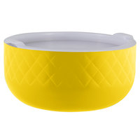 Bon Chef Diamond Collection Cold Wave 3.4 Qt. Yellow Triple Wall Bowl with Cover